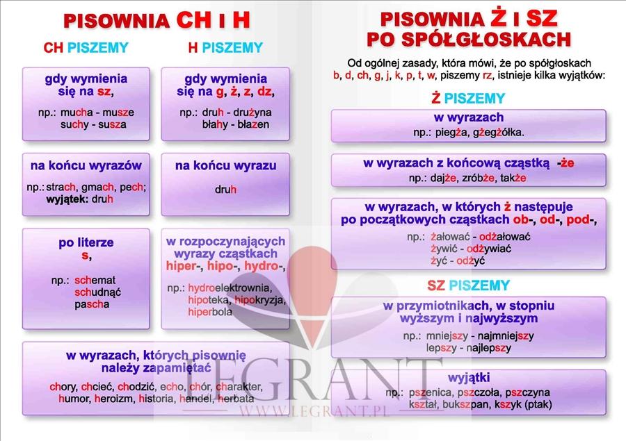 Język Polski Ortografia Zestaw Plansz